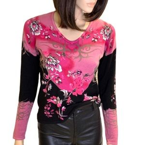 Chagall Floral Sweater with Bright Lovely Colours